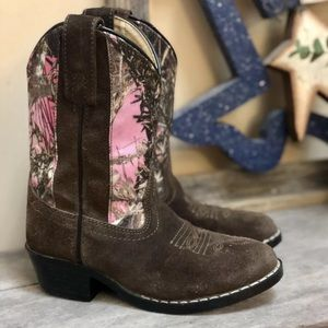 Masterson Boot Co Camo Cowboy Boots Girls 7D